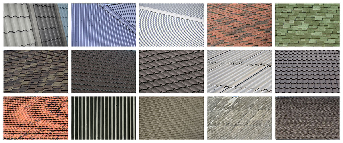 Examples of types of roofs in South Florida